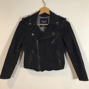 American eagle moto style denim jacket
